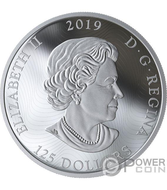 GRIZZLY Bear Primal Predators 16 Oz Silver Coin 125$ Canada 2019v