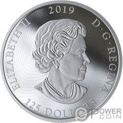 GRIZZLY BEAR My Inner Nature 5 Oz Серебро Монета 50$ Канада 2019