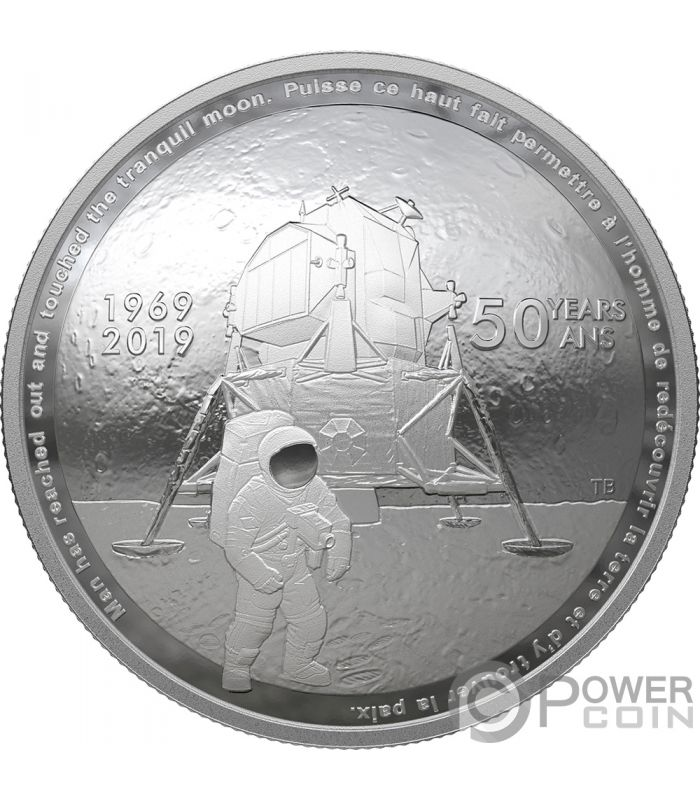 Moon Landing 50th Anniversary Dome 1 Oz Silver Coin 25