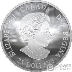 MOON LANDING Luna 50 Anniversario Dome 1 Oz Moneta Argento 25$ Canada 2019