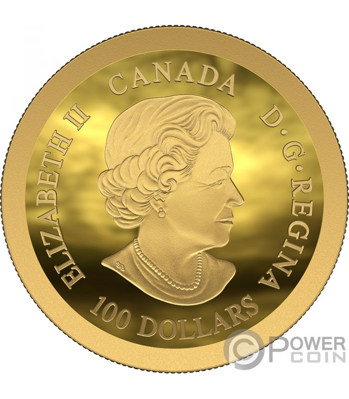 Moon Landing 50th Anniversary Dome Gold Coin 100 Canada
