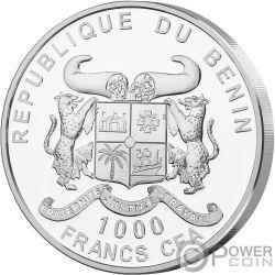 WATER Вода Источник Жизни 1 Oz Монета Серебро 1000 Франки Бенин 2019