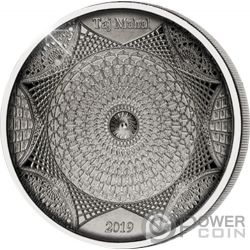 TAJ MAHAL 4 Layer Монета Серебро 10$ Соломоновы Острова 2019