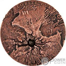FUKANG World of Meteorites Verkupferung 2 Oz Silber Münze 5$ Niue 2018