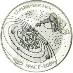 SPACE EXPLORATION Silver Tantalum Coin 500 Tenge Kazakhstan 2006