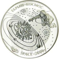 SPAZIO SPACE Moneta Argento Tantalio 500 Tenge Kazakistan 2006