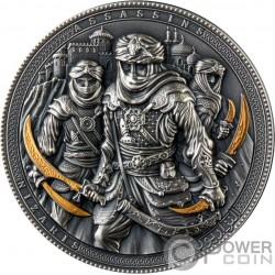 NIZARIS Assassins Chapado Oro 2 Oz Moneda Plata 5$ Niue 2019