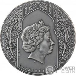 NIZARIS Убийцы Покрытие Золото 2 Oz Монета Серебро 5$ Ниуэ 2019