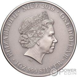 TASMANIAN DEVIL Wildlife Up Close 1 Oz Silver Coin 1$ Niue 2019