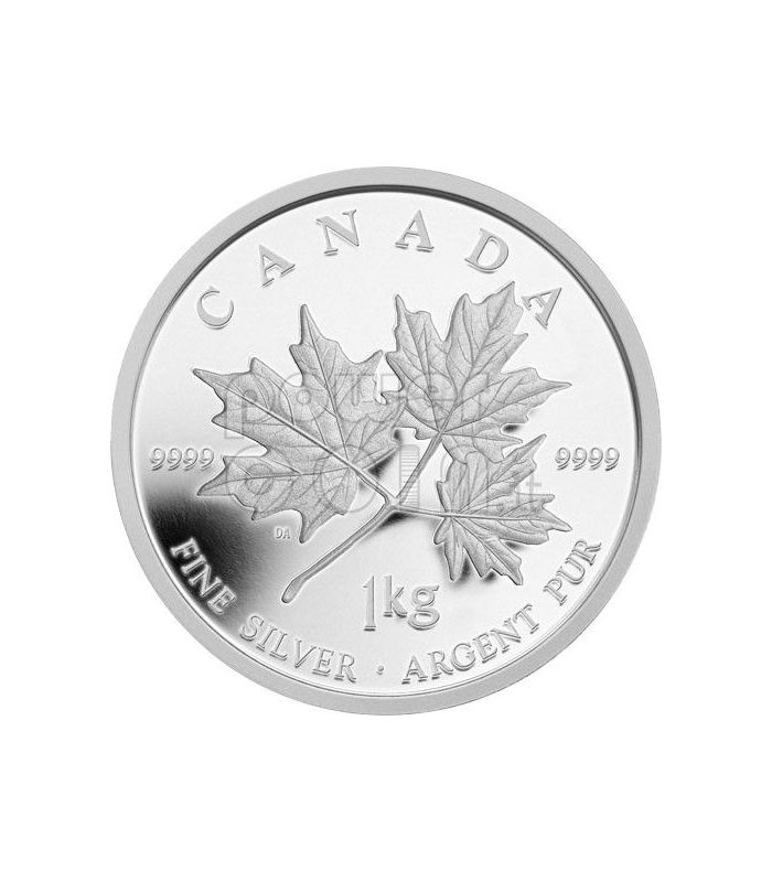 Maple Leaf Forever 1 Kg Kilo Fine Silver Kilogram Coin 250