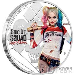 HARLEY QUINN Suicide Squad Dc Comics 1 Oz Silver Coin 1$ Tuvalu 2019