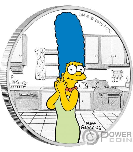 MARGE Simpsons 1 Oz Silber Münze 1$ Tuvalu 2019
