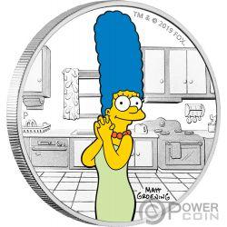 MARGE Симпсон 1 Oz Серебро Монета 1$ Тувалу 2019