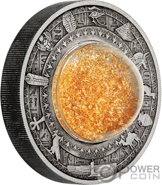GOLDEN TREASURES OF ANCIENT EGYPT 2 Oz Silver Coin 2$ Tuvalu 2019
