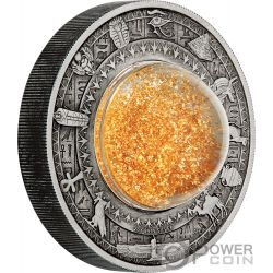 GOLDEN TREASURES OF ANCIENT EGYPT Schätze 2 Oz Silber Münze 2$ Tuvalu 2019