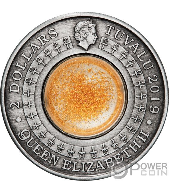 TREASURES OF ANCIENT EGYPT 2 Oz Silver Coin 2$ Tuvalu 2019
