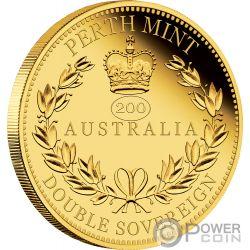AUSTRALIA DOUBLE SOVEREIGN Sovrano 200 Anniversario Moneta Oro 50$ Australia 2019