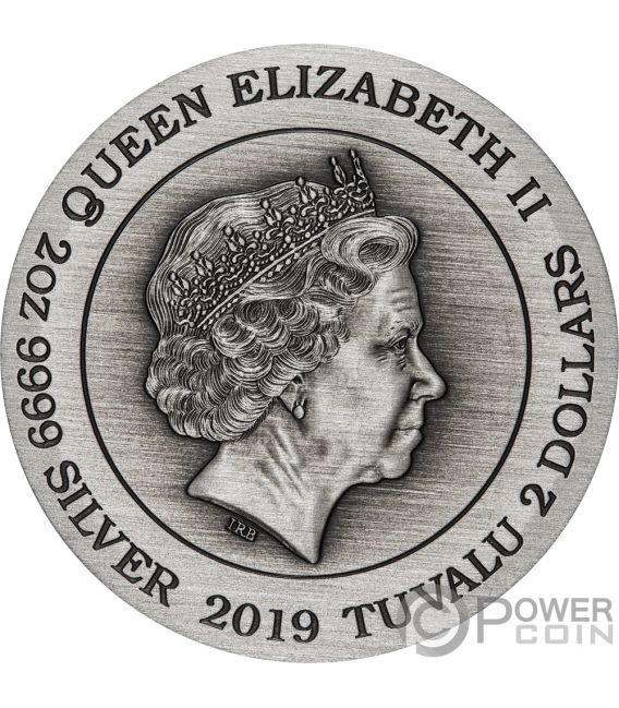 DOUBLE DRAGON 2 Oz Silver Coin 2$ Tuvalu 2019