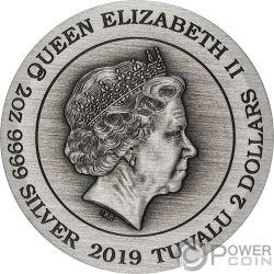 DOUBLE DRAGON Drachen 2 Oz Silber Münze 2$ Tuvalu 2019