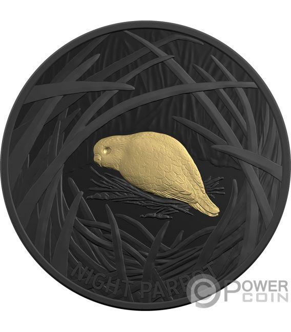 NIGHT PARROT Echoes Fauna 1 Oz Silver Coin 5$ Australia 2019