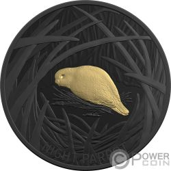 NIGHT PARROT Echoes Fauna 1 Oz Moneda Plata 5$ Australia 2019