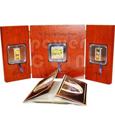 TRITTICO DELLE DELIZIE Hieronymus Bosch Set 3 Monete Argento 2$ 5$ Cook Islands 2011
