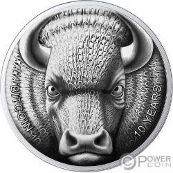 BINARY BULL Sol Noctis 10 Jahrestag Bitcoin 1 Oz Silver Coin 1 BTC Cent 2019