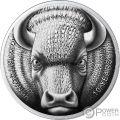 BINARY BULL Sol Noctis 10 Юбилей Bitcoin 1 Oz Серебренная Монета 1 mBTC 2019