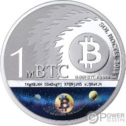 BINARY BULL Sol Noctis 10th Anniversary Bitcoin 1 Oz Silver Coin 1 BTC Cent 2019