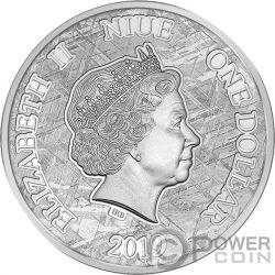 LEGEND OF NIBELUNGS Ирон Метеорит Muonionalusta  Серебро 1$ Ниуэ 2019