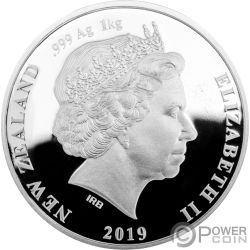 BROWN KIWI 1 Kg Moneda Plata 20$ New Zealand 2019
