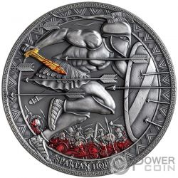 SPARTAN HOPLITE Legendary Warriors 3 Oz Silver Coin 3000 Francs Cameroon 2019