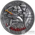 SPARTAN HOPLITE Legendary Warriors 3 Oz Silber Münze 3000 Franken Cameroon 2019