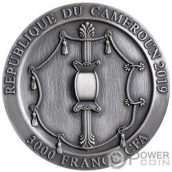 SPARTAN HOPLITE Legendary Warriors 3 Oz Argento 3000 Franchi Cameroon 2019