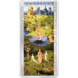GARDEN OF EARTHLY DELIGHTS Hieronymus Bosch 3 Moneda Plata Set 2$ 5$ Cook Islands 2011