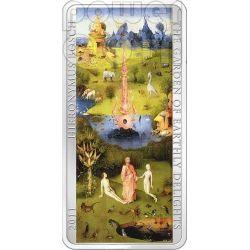 GARDEN OF EARTHLY DELIGHTS Hieronymus Bosch 3 Silber Münze Set 2$ 5$ Cook Islands 2011