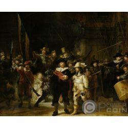NIGHT WATCH 350 Aniversario Muerte Rembrandt 1.5 Kg Kilo Moneda Plata 150$ Solomon Islands 2019