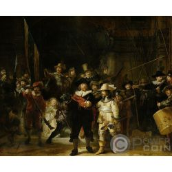 NIGHT WATCH 350 Anniversario Morte Rembrandt 1.5 Kg Kilo Moneta Argento 150$ Solomon Islands 2019