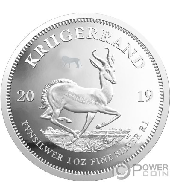BIG FIVE Privy Lion Krugerrand Set 2x1 Oz Silver Coins 6 Rand South Africa 2019