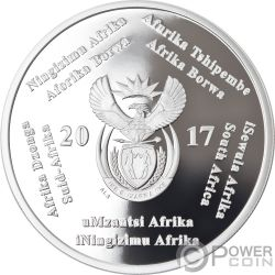 HEART TRANSPLANT R2 50 Anniversario 1 Oz Moneta Argento 2 Rand South Africa 2017