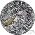KUANYU Legend of History 2 Oz Moneda Plata 10 Cedis Ghana 2019