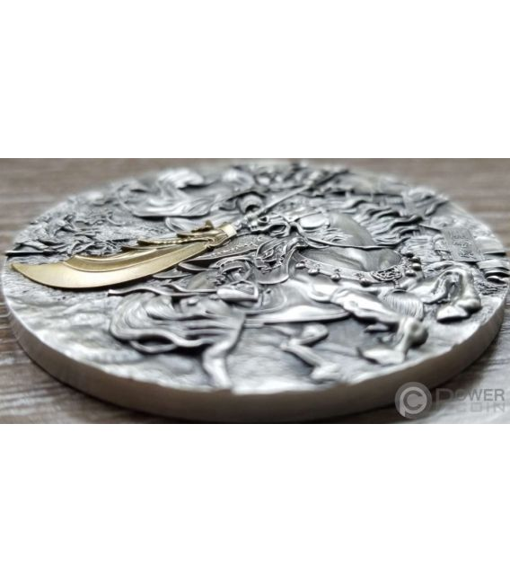 KUANYU Legend of History Silver Coin Gold Plating 10 Cedis Ghana 2019