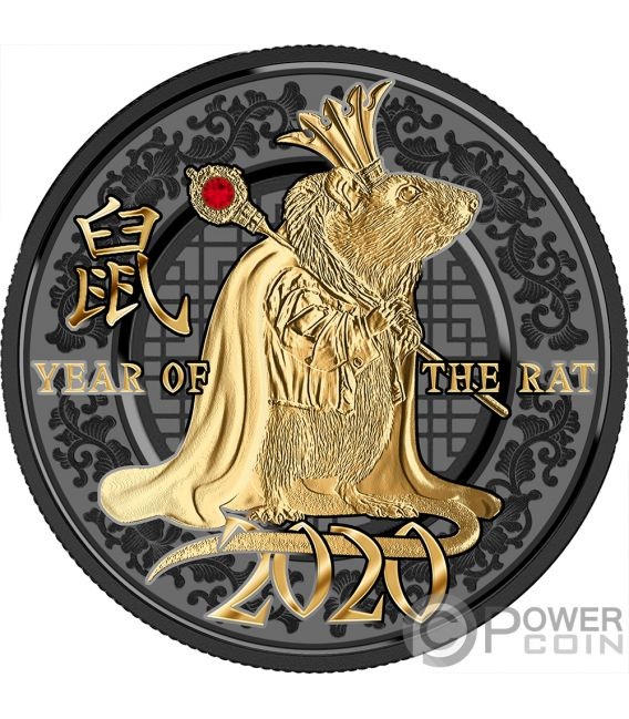 YEAR OF THE RAT Jahr Ratte Success Silber Münze 500 Franken Cameroon 2020