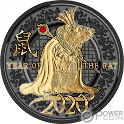 YEAR OF THE RAT Anno Topo Success Moneta Argento 500 Franchi Cameroon 2020