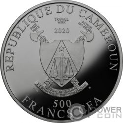 YEAR OF THE RAT Raton Success Moneda Plata 500 Francos Cameroon 2020
