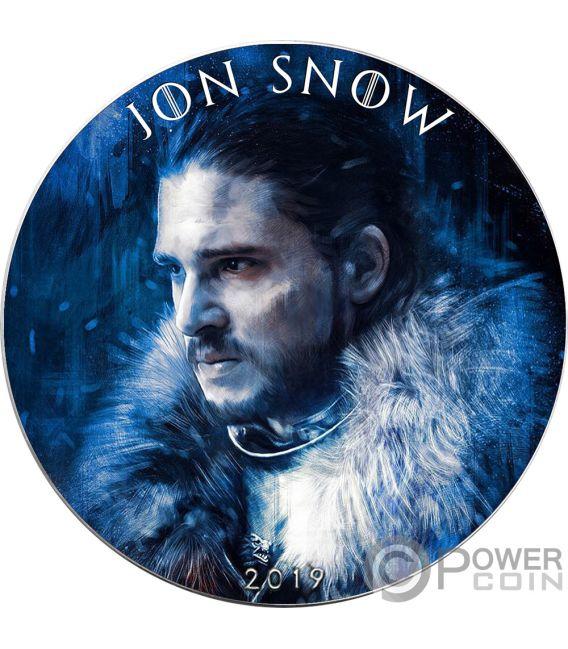 JON SNOW Game of Thrones II GOT Walking Liberty 1 Oz Moneda Plata 1$ USA 2019