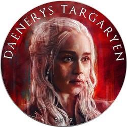 DAENERYS TARGARYEN Game of Thrones II GOT Walking Liberty 1 Oz Silber Münze 1$ USA 2019