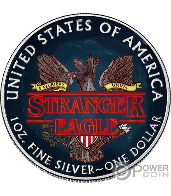 STRANGER EAGLE Demogorgon Things Walking Liberty 1 Oz Монета Серебро 1$ США 2019