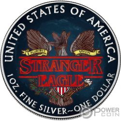 STRANGER EAGLE Demogorgon Things Walking Liberty 1 Oz Silver Coin 1$ USA 2019