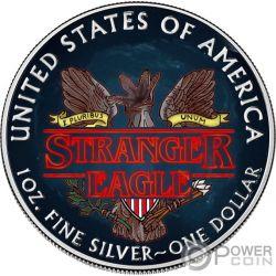STRANGER EAGLE Demogorgone Things Walking Liberty 1 Oz Moneta Argento 1$ USA 2019
